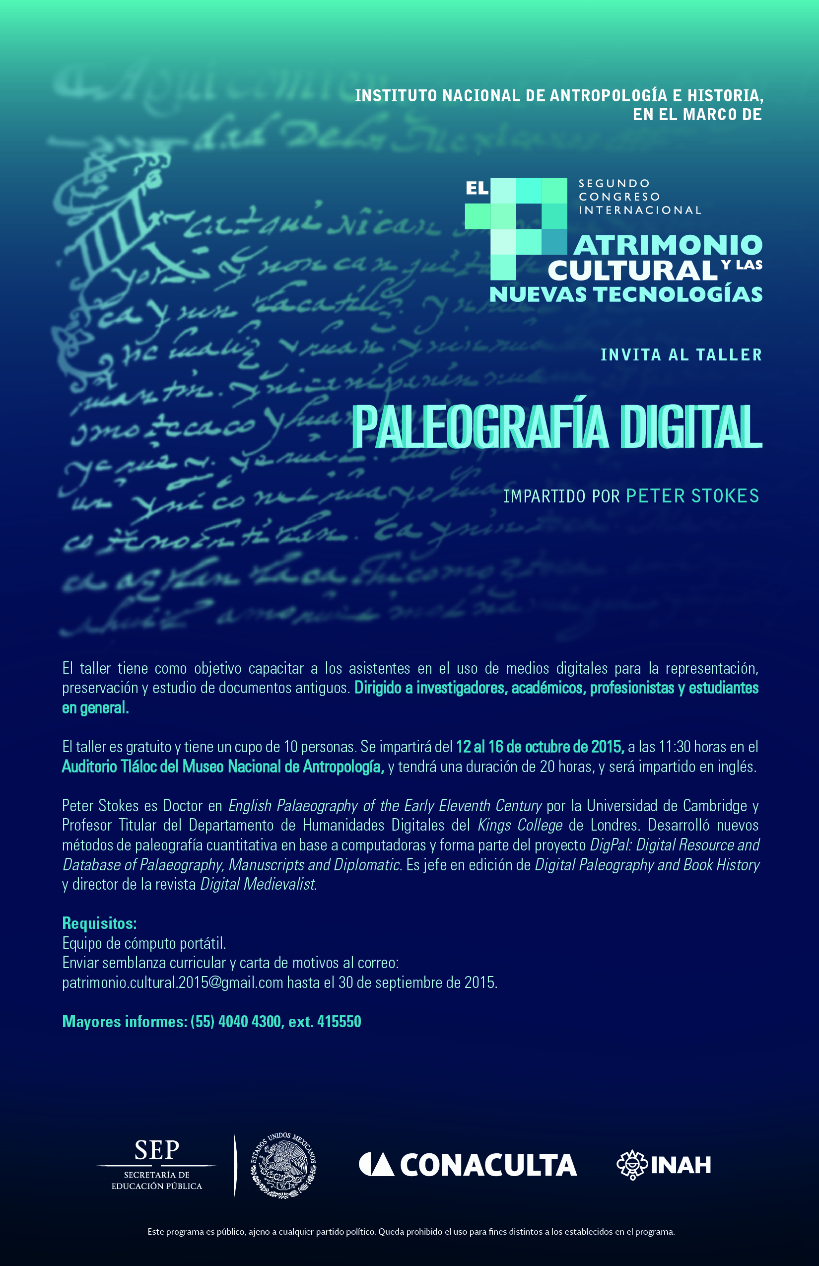 Digital Palaeography\' workshop in Mexico City | DigiPal