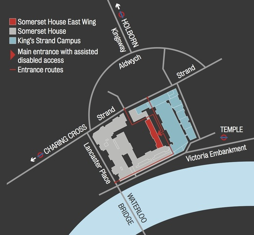 Map of Somerset House, East Wing