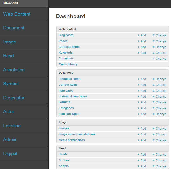 Help / Admin Interface | DigiPal